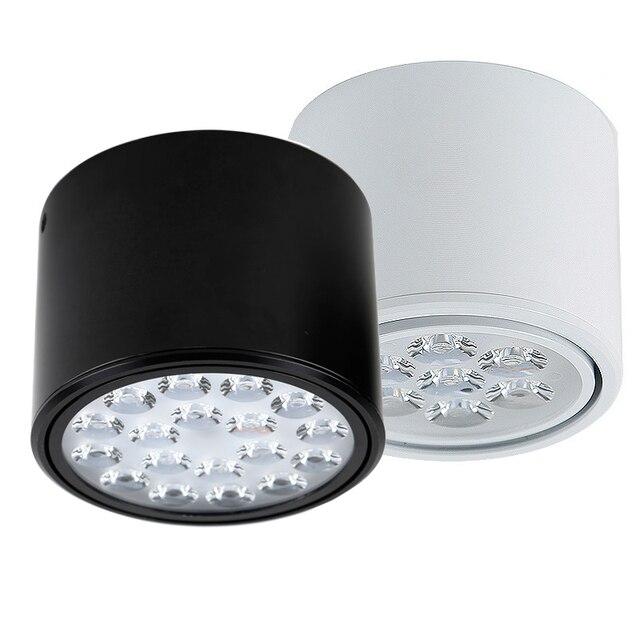 Verstelbare hoek Opbouw LED Downlighters 7 w 12 w 18wW High Power ...