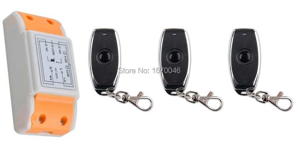 latest AC 220 V 1CH Wireless Remote Control Switch System 1pcs Receiver +3pcs one-button metal Remote 315mhz/433mhz wireless pager system 433 92mhz wireless restaurant table buzzer with monitor and watch receiver 3 display 42 call button