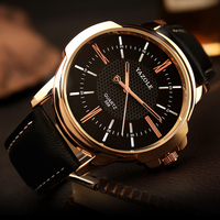 2016 Top Brand Luxury Rose Gold Wrist Watch Men Famous Male Clock Quartz Watch Golden Wristwatch