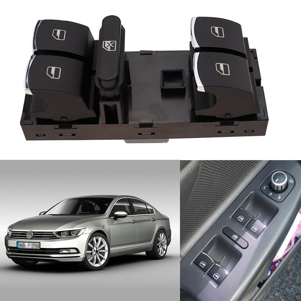 Fit FOR VW Passat B6 Sedan//Wagon 2005-2010 Front Left Master Window Switch Bezel