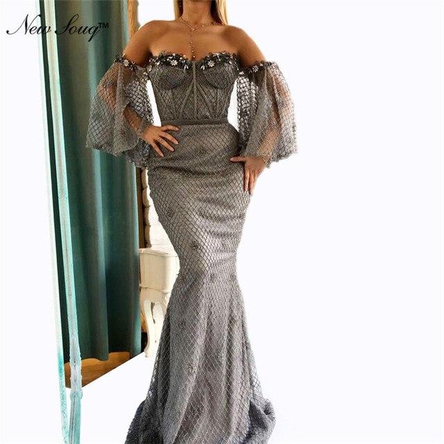 0ba3827a58 For Sale Mermaid Off Shoulder Arabic Evening Dress 2019 Kaftan Dubai ...
