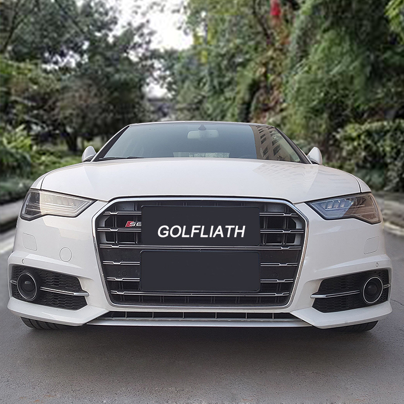 GOLFLIATH 2016 2017 year New Arrived S6 style Grill Race Grille A6 on audi matte blue vinyl, audi s4, stanced audi s6 c6, audi a2, 2006 a6 c6, audi stretch and poke,