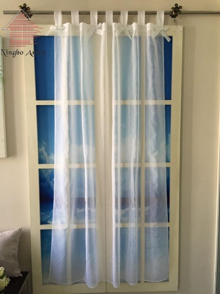 Rustikal Balkon Garn Vorhänge Voile Vorhang Moderne Solid Farben
