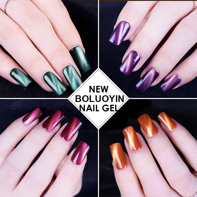 Magnet Cat's Eye Nail Gel Polish 8ml Glitter Colors Soak Off UV Gel Nail Polish Varnish Semi Permanent UV Gel Lacquer