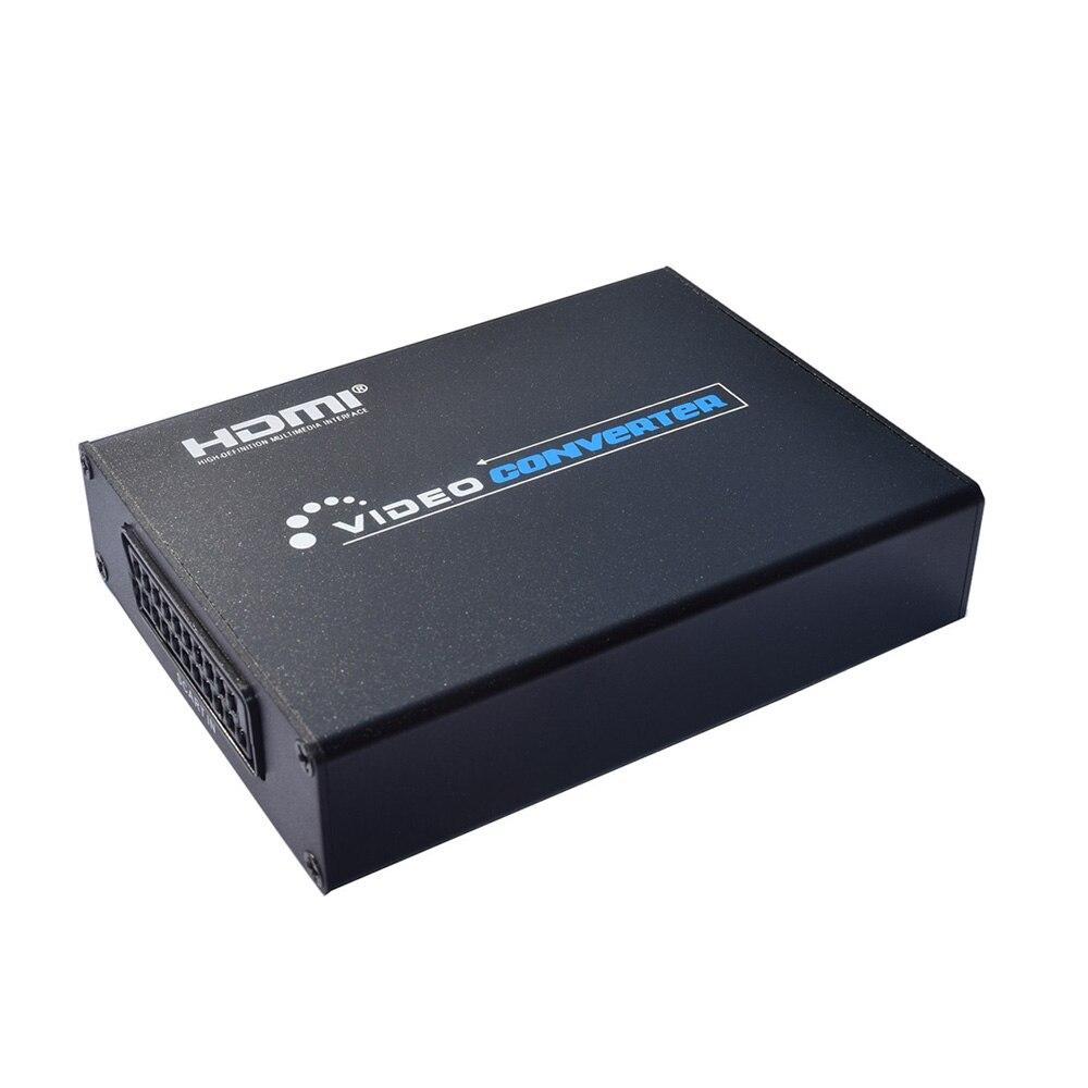 Péritel vers HDMI Scaler Box convertisseur vidéo péritel vers HD avec sortie Audio adaptateur AV support 720/1080P NTSC/PAL/SECAM pour HDTV DVD