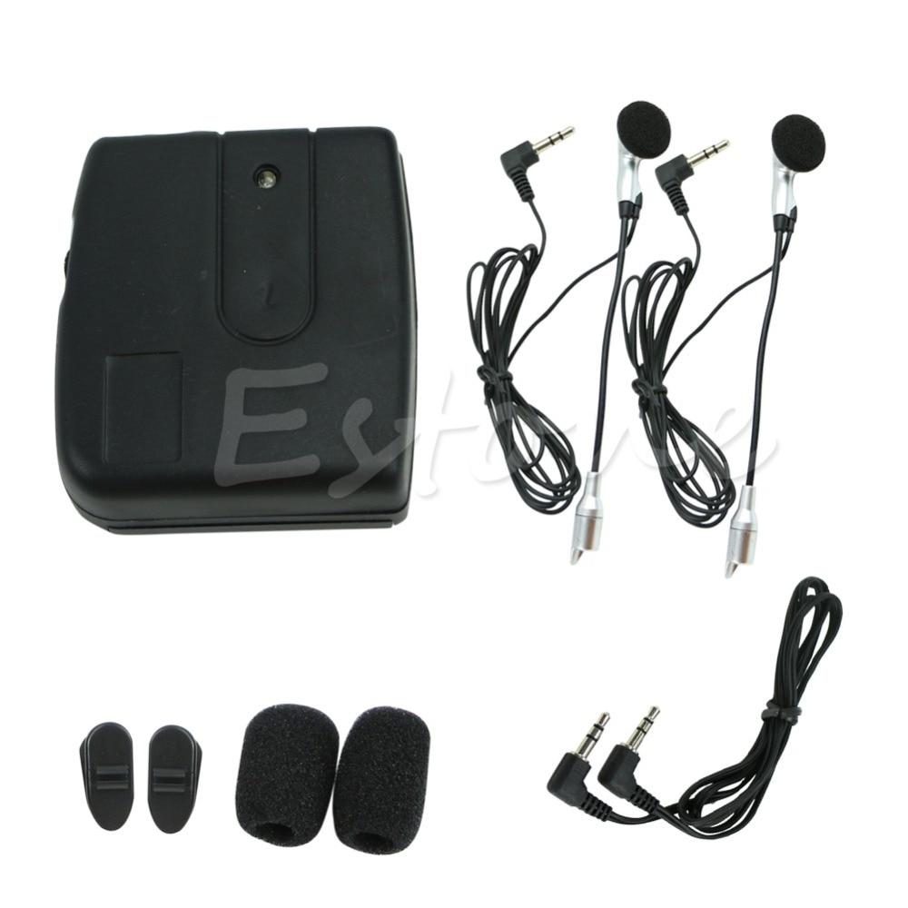Hot Motorbike Motorcycle Helmet 2 way Intercom Headset Communication System