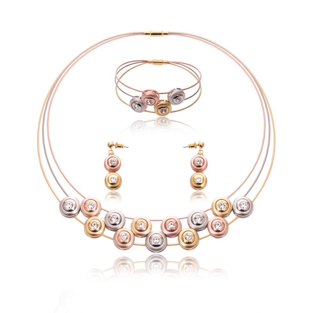 Hohe Qualität Vergoldet edelstahl Neue Design Draht Kristall Perlen ...
