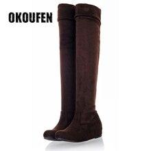 2016 European fashion leopard stretch thigh boots increased in size a son a wunderer 24 etuden in allen tonarten