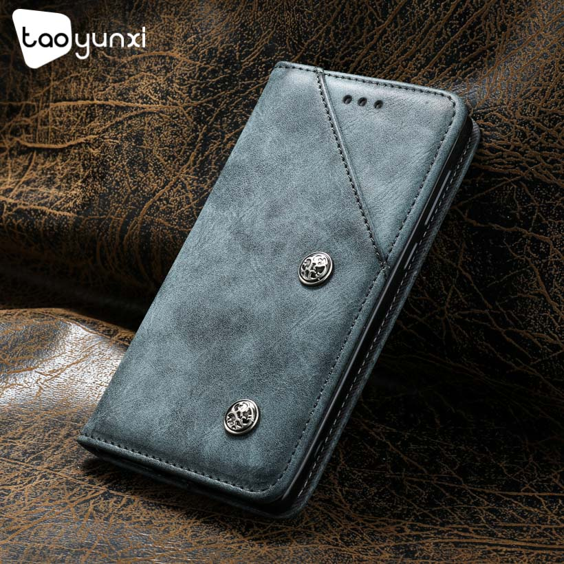 TAOYUNXI Flip Cases For LEAGOO KIICAA Mix Leather For LEAGOO KIICAA Mix Soft TPU Phone Bag Vintage Silicone Retro Leather Covers