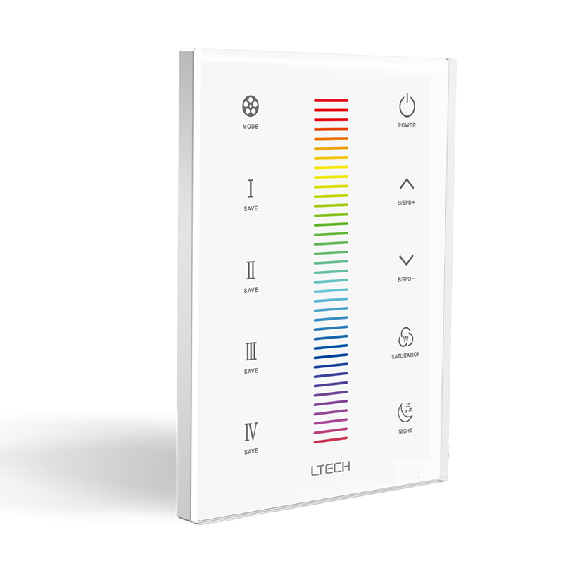 Ltech UX3 LED rgb Strip Controller AC 100V -240V touch panel Wall Mount 2.4GHz and DMX RGB Strip Led Master controller Multi цена