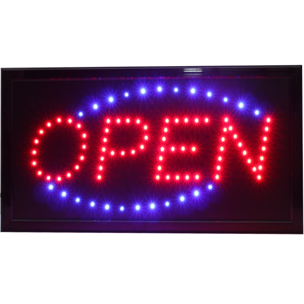 CHENXI Super Brightly Led Open Store Business Shop Neon Signs Animated Motion Running with Switch US/EU/AU/UK Plug Indoor
