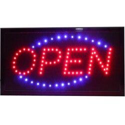 Chenxi super brilhantemente led loja de negócios aberta sinais de néon movimento animado correndo com interruptor eua/ue/au/uk plug indoor