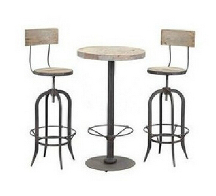 American classic solid wood antique to do the old style wrought iron bar  chairs Bar necessary combination