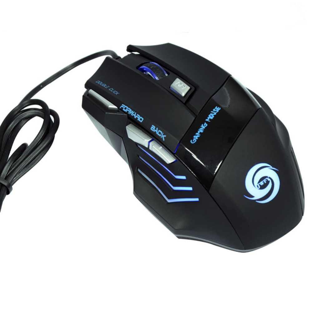 Professional 5500 DPI Gaming Mouse 7 Buttons LED Optical USB Wired Gaming Mice Gaming Computer Mouse for Pro PC Gamer Mouse dare u wcg armor soldier 6400dpi 7 programmable buttons metab usb wired mechanical gaming mouse