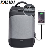 KALIDI Anti Theft Laptop Backpack 15 6 Inch Waterproof Men Backpack USB Charger Travel School Bag