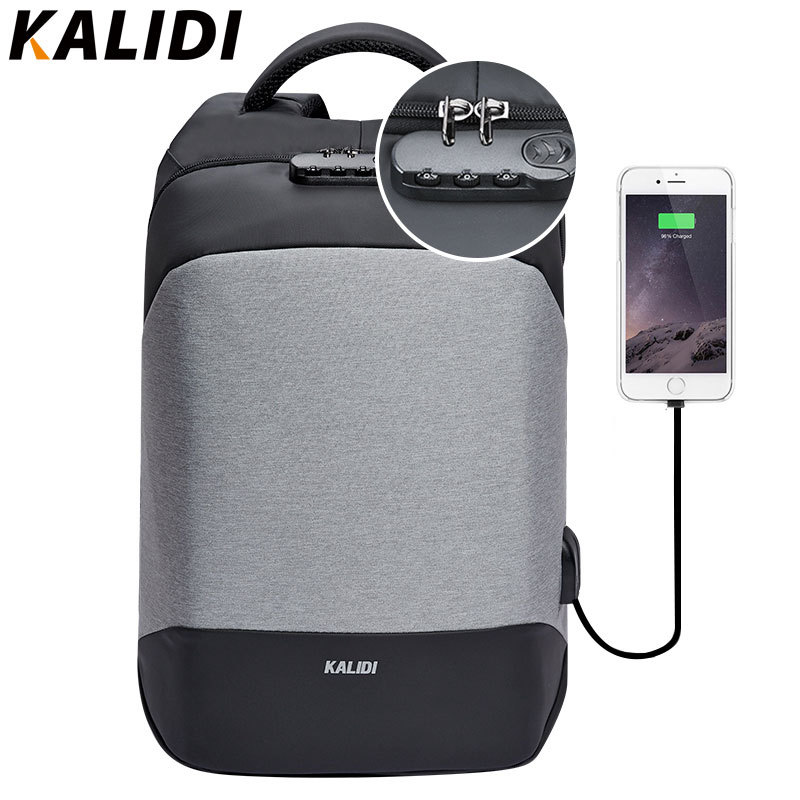 KALIDI Anti theft Laptop Backpack 15.6 inch Waterproof Men Backpack USB Charger Travel School Bag for Teenage Laptop Bag Women bopai brand backpack usb charging backpack laptop shoulders anti theft usb backpack 15 inch laptop backpack men waterproof