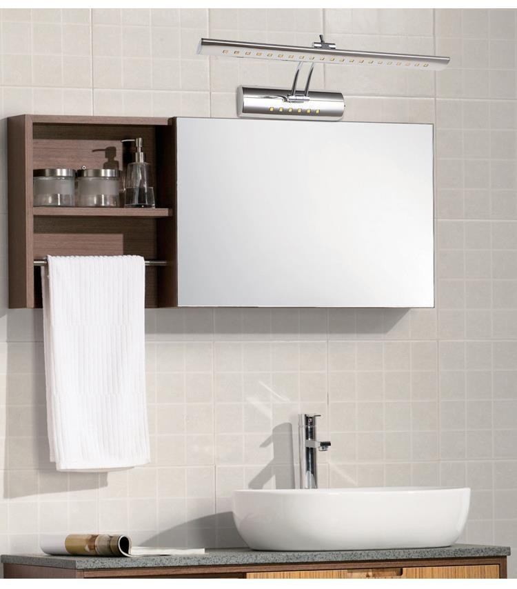 Aliexpress Buy 7W LED Wall Bathroom Mirror Front Light Makeup Lamp Home Decor Sconce Can Rotate 180 Degrees Up And Down Warm White From