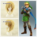 Free shipping Link The Legend Of Zelda Sky Ward Sword Short Yellow Blonde Anime Cosplay Wig +a wig cap