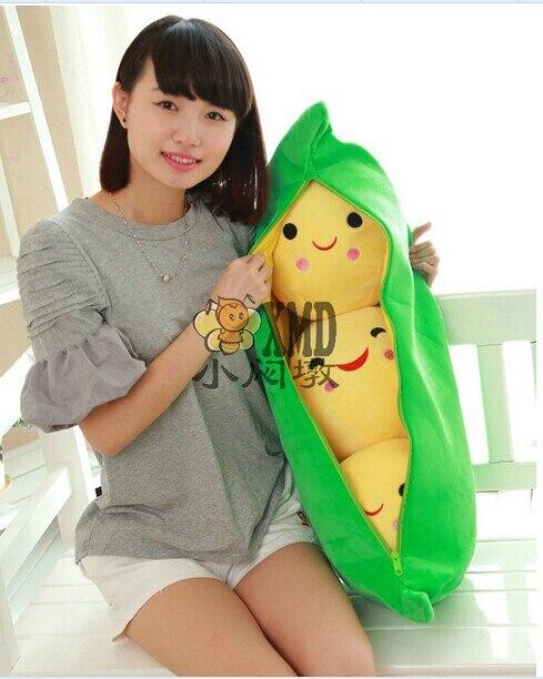ФОТО huge lovely stuffed peas doll big green peas plush toy creative doll gift doll about 80cm