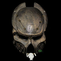 Halloween Scary Predators Airsoft Mask Full Face Predators Resin Masks Masquerade Party Costume Cosplay Game Props Adult Size