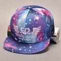 2016 Корейский Летом Мужская GD Galaxy Пространство Бейсбол Hat Холст Вс Cap Hat хип-хоп вс бегущий человек бейсбольную кепку snapback cap