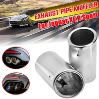 Stainless Steel Exhaust Tip Muffler Pipe for Jaguar XE R Sport Exhaust Systems Auto Accessories|Mufflers| |  -