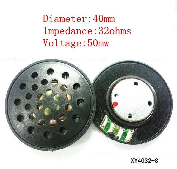 imágenes para 40 mm unidad de altavoz de 32 ohms Bluetooth de tarjetas de memoria auriculares orador especial