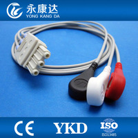 New type with 3leads ECG patient trunk cable , snap/1m for patient monitor