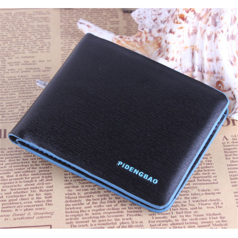 New Men's Wallet Men Bifold Business Leather Wallet ID Credit Card Holder Purse Pockets carteira masculina Free Shipping zelda wallet bifold link faux leather dft 1857