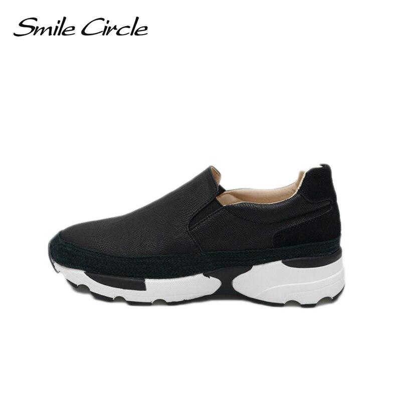 Zapatillas Negro Redonda Zapatos Nueva blanco 2018 Círculo Sonrisa Punta De Casuales Plataforma A1b015 Planos Las Moda gris Mujeres Deporte Primavera Mocasines v6U1nq4w