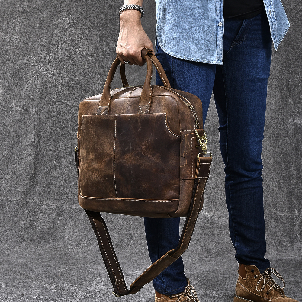 Personalised Genuine Leather Mens Bags Tote Crossbody Bags Mens Briefcase Laptop Business Messenger Bag Mens Oil Leather BagsPersonalised Genuine Leather Mens Bags Tote Crossbody Bags Mens Briefcase Laptop Business Messenger Bag Mens Oil Leather Bags