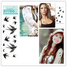 1pc Big Swallow Tattoo Or Small Birds Tattoo Sticker Waterproof Wrist Tattoos Fake Removable Tatto For Women Body Paint