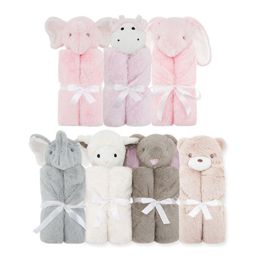 Hot Selling Children's Sleeping Bags Crystal Velvet Mother-To-Child Baby Products Neonatal Package Blanket Baby Wrap Blanket