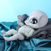 14inch realistic reborn baby Alien doll hand detailed paiting vinyl toy collectible baby