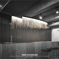 Современный дизайнер декоративные Открытый Подвесные Светильники Nordic кисточкой ресторан роскошный отель инженерных цепи гостиная искусс