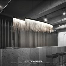 Современные дизайнерские декоративные подвесные светильники, скандинавский ресторан с кисточками, роскошная гостиничная Инженерная цепочка, освещение для гостиной