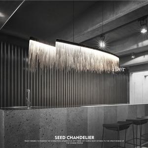 Image 1 - Design moderno decorativa Lampade A Sospensione Nordic nappa catena di ingegneria ristorante hotel di lusso soggiorno illuminazione artistica