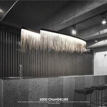 Thiết kế hiện đại, trang trí Pendant Lights Bắc Âu tua nhà hàng khách sạn sang trọng kỹ thuật chuỗi phòng khách nghệ thuật chiếu sáng