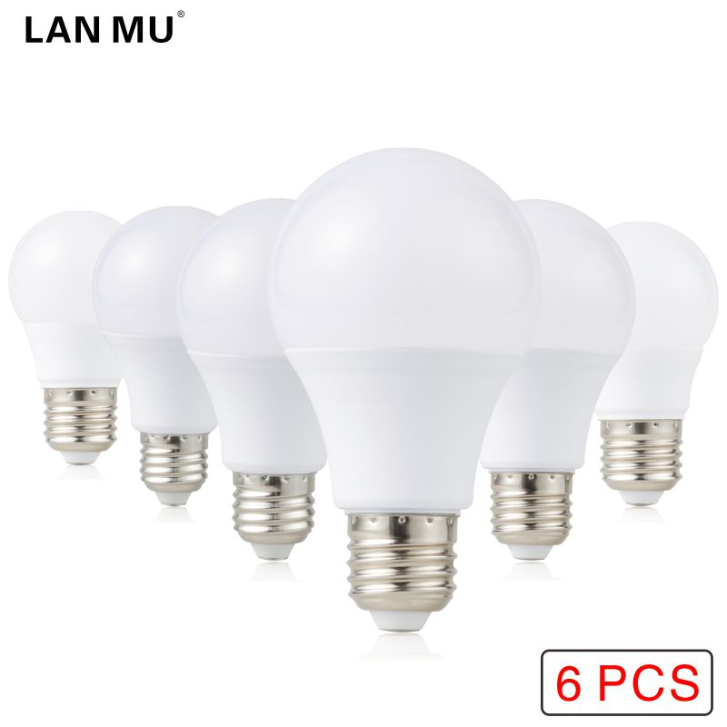 6pcs LED Bulb E27 LED Lampada Ampoule Bombilla 3W 5W 7W 9W 12W 15W LED Lamp Light 220V 240V Cold/Warm White SMD2835 LED Lights ...
