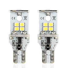 NOVSIGHT 2 Pcs T15 10 LED Car Bulbs Backup Reverse Light 2835 SMD LED Auto Rear Fog Lamp Lights Led Bulb For Cars(China)