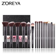 Zoreya Makeup Brushes Set Professional 18pcs for Blending Blush Eyeshadow Contour Foundation Brush Kits