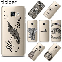 ciciber Totem Animal Feather For Samsung Galaxy A8 A9 2018 PRO A6 Plus A5 2016 A3 A7 2017 Soft TPU Phone Case Funda Capa