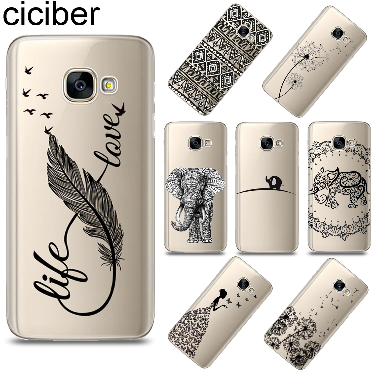 ciciber Totem Animal Feather For <font><b>Samsung</b></font> <font><b>Galaxy</b></font> A8 A9 2018 PRO A6 A8 Plus 2018 A5 2016 <font><b>A3</b></font> A7 <font><b>2017</b></font> Soft TPU <font><b>Phone</b></font> <font><b>Case</b></font> Funda Capa image