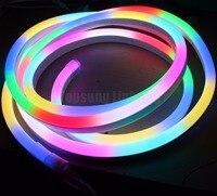 10 50m ultra thin 5050 pixel waterproof rgb chasing addressable led neon strip light 11x18mm DMX digital neon flex soft tube