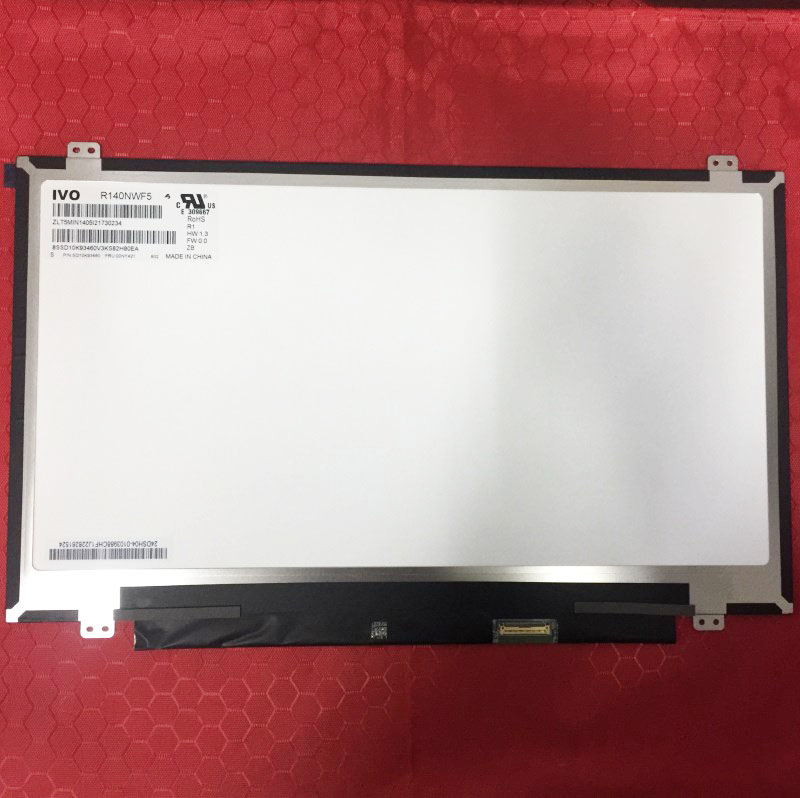 """For IVO 14.0"""" LED Touch LCD screen R140NWF5 R1 Matte For Lenovo T470 P/N SD10K93460 FRU:00NY421 FHD 1920X1080 panel Replacement-in Laptop LCD Screen from Computer & Office    1"""