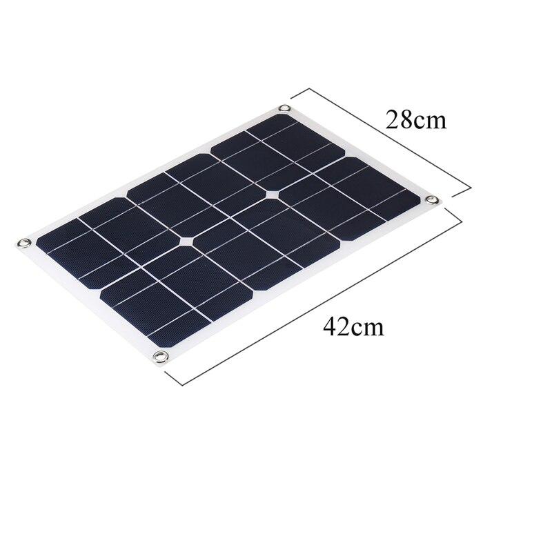 Novo 50w painel solar flexível com 10-50a