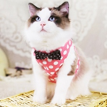 Cat Collar Harnesses Cats Products for Pet Traction for Small Medium Dog Cat Vest Harness Leash Pet Dog Chest Strap Leash