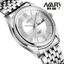 лучшая цена 2018 New Men Watch Nary Mens Watches Top Brand Luxury Quartz Date Day Stainless Steel Watch Fashion Business Wrist Watch For Men