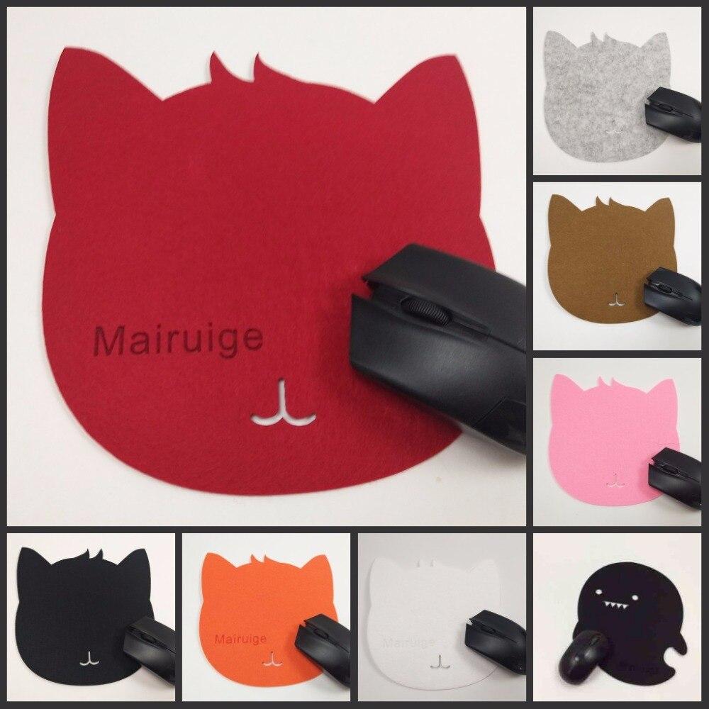 Yuzuoan Lowest Price Cartoon Cute Cat Soft Felt Mouse Pad For Laptop Notebook Computer Mousepad Mat Tapete  Decorate Your Desk