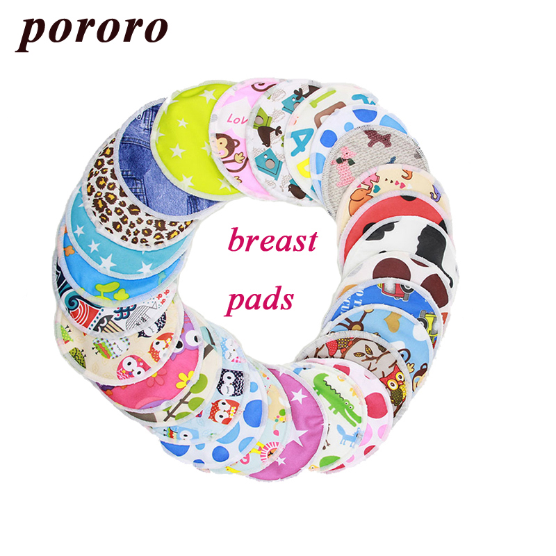 [Pororo] 2PCS Organic Bamboo Breast Pad Nursing Pads For Mum, Waterproof Washable Feeding Pad Bamboo Reusable Breast Pads ...